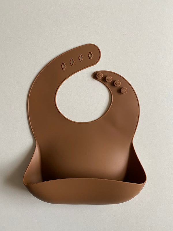 Silicone Baby Bibs Brown