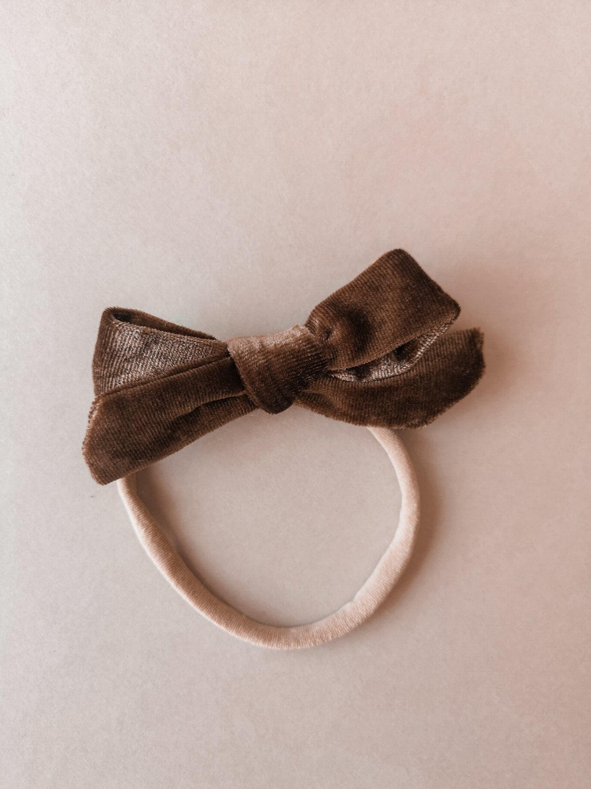 Velvet Bow Brown
