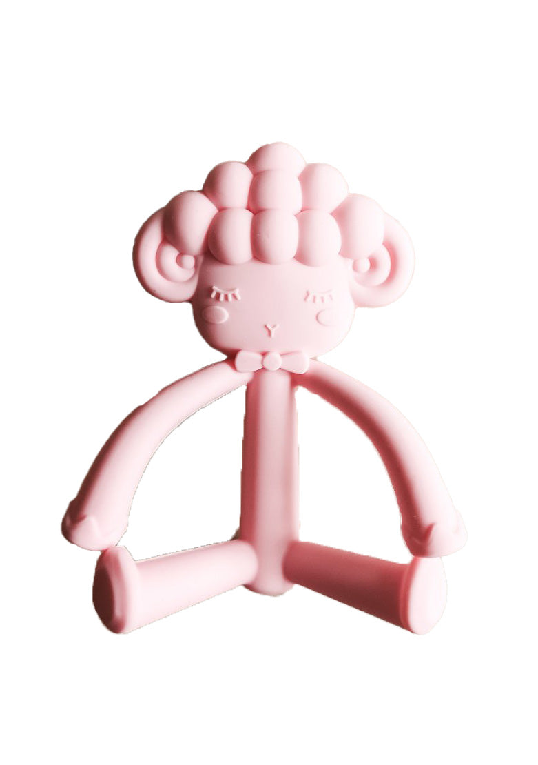 Lola Silicone Teether Pink