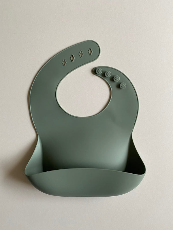 Silicone Baby Bibs Sage