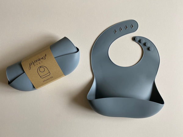 Silicone Baby Bibs Grey