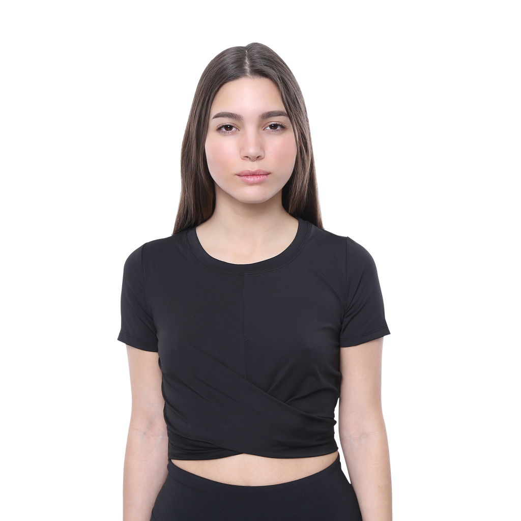 Front View ELOISE- Gym Top Black Limited Edition!