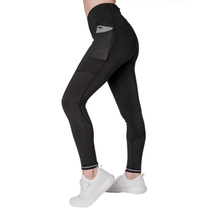 Side view Classic Leisurewear Black with Elasticized waistband Side pockets right, left and back