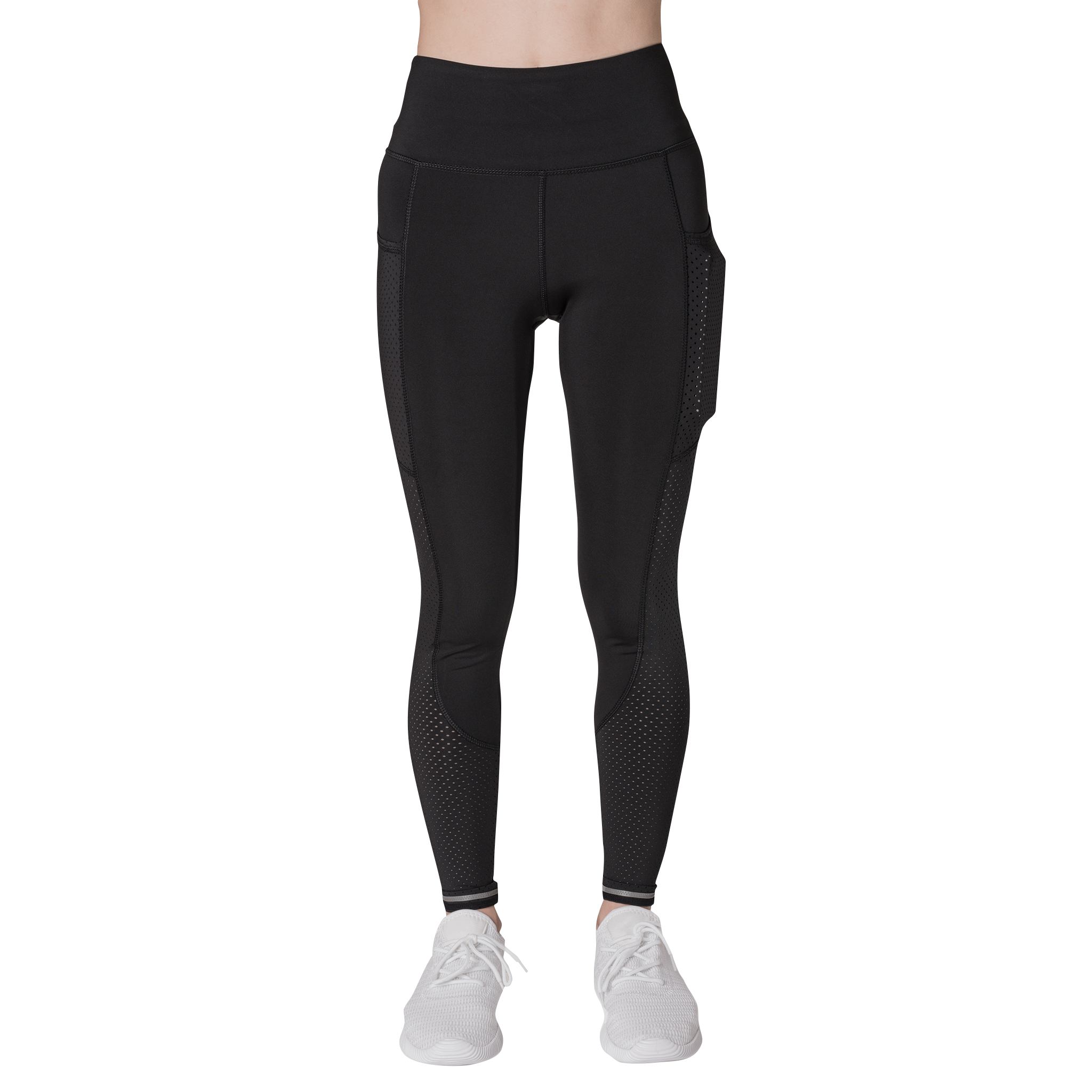 Front view Classic Leisurewear Black with Elasticized waistband Side pockets right, left and back