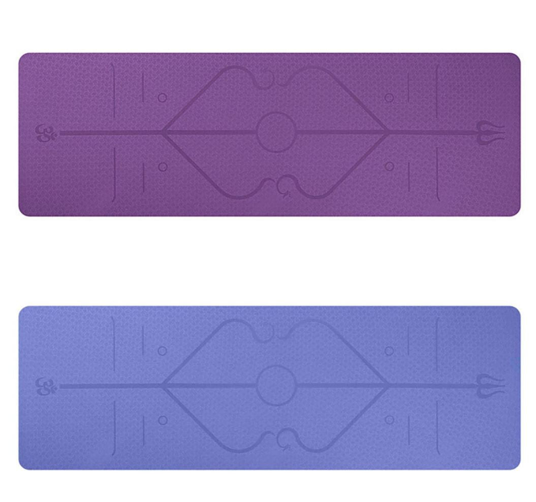 Premium Non-Slip Yoga Mat with Position Line - FEM Athletica