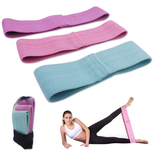 Fabric Booty Resistance Bands for Legs Thigh Butt Squat Non Slip Bands - 3 pcs - FEM Athletica