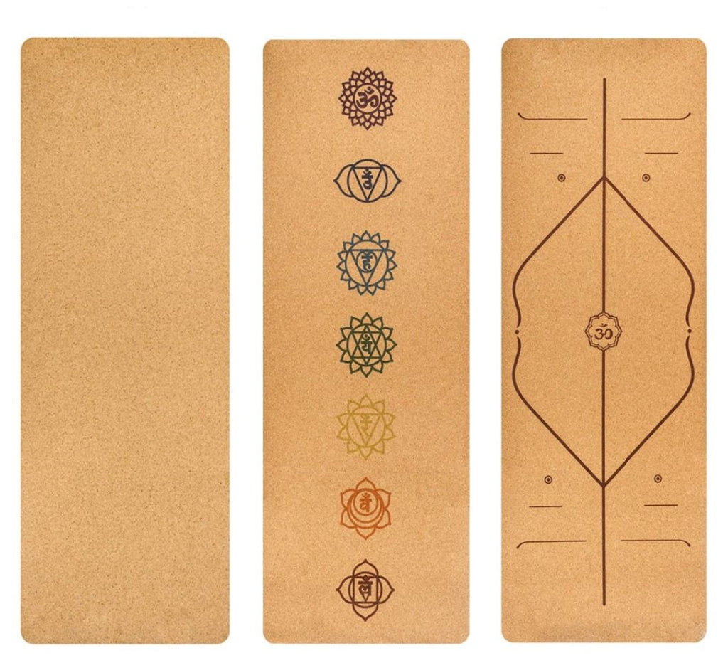 Non-slip Natural Eco-Friendly Cork Yoga Mat
