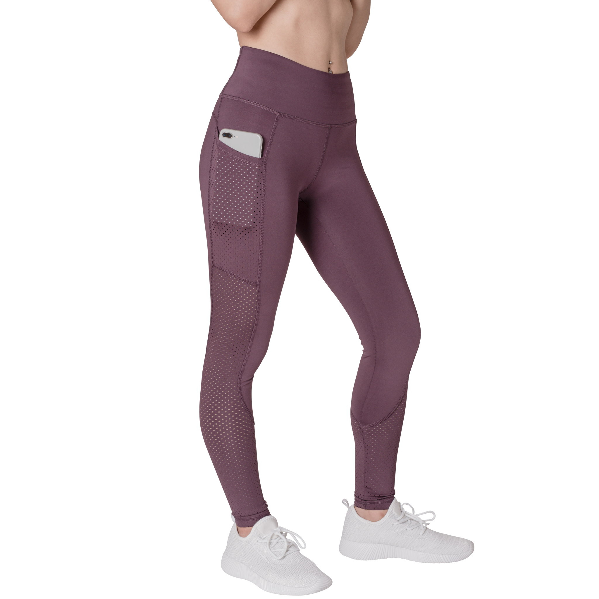 Side View Phone Pocket Classic Leisurewear Mauve with Elasticized waistband Side pockets right, left and back