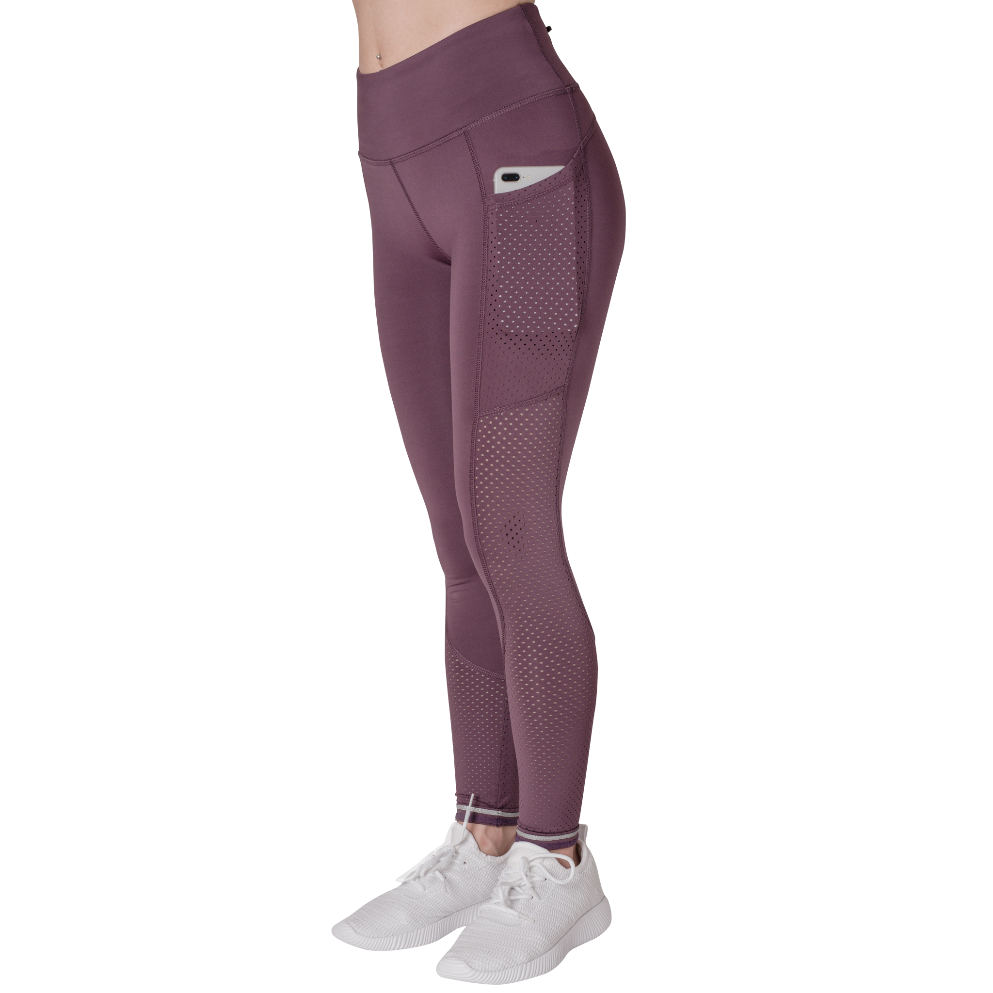 Left Side View Phone Pocket Classic Leisurewear Mauve with Elasticized waistband Side pockets right, left and back