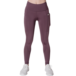 Front View Phone Pocket Classic Leisurewear Mauve with Elasticized waistband Side pockets right, left and back