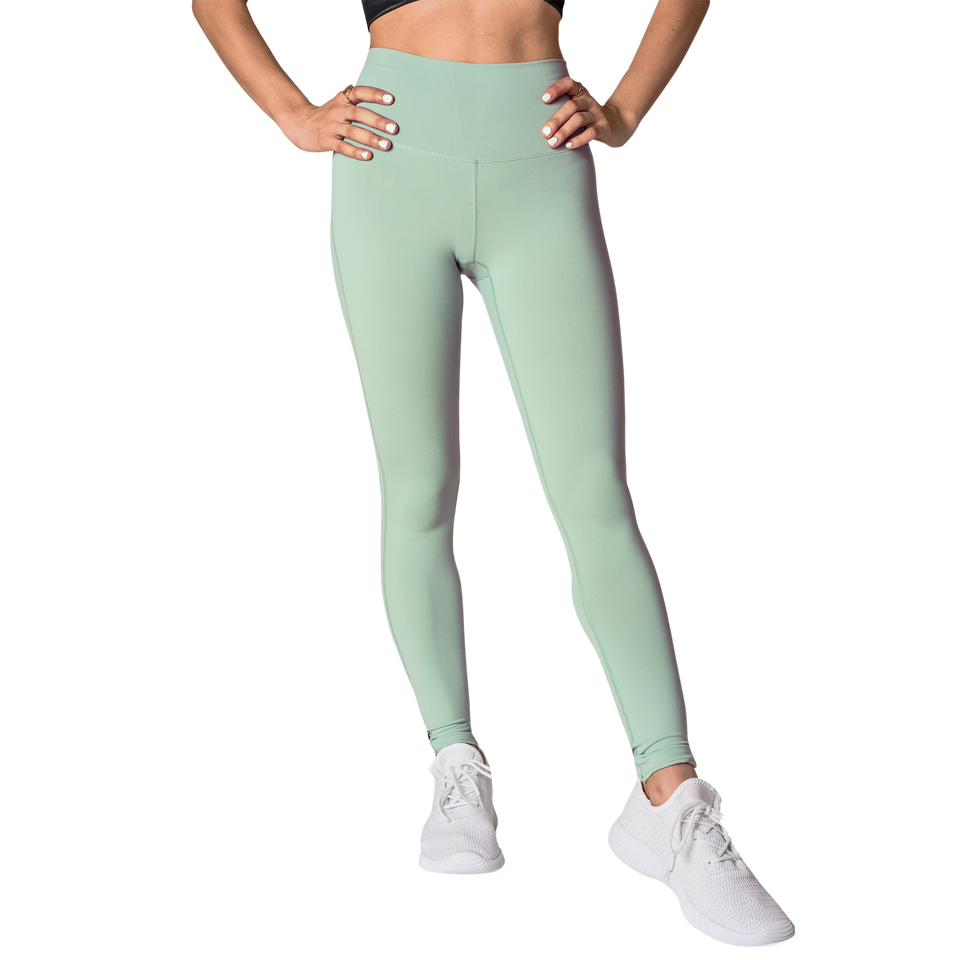 FAYE - Yoga Leggings (Mint Green) - FEM Athletica