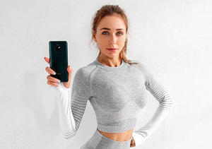 Longsleeve Seamless Crop Top - FEM Athletica