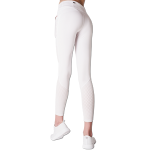 Back View Classic Leisurewear White with Elasticized waistband Side pockets right, left and back