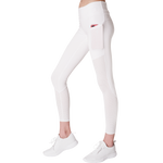 Side View Classic Leisurewear White with Elasticized waistband Side pockets right, left and back
