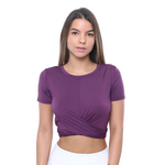 Front View ELOISE- Gym Top Violet Limited Edition!