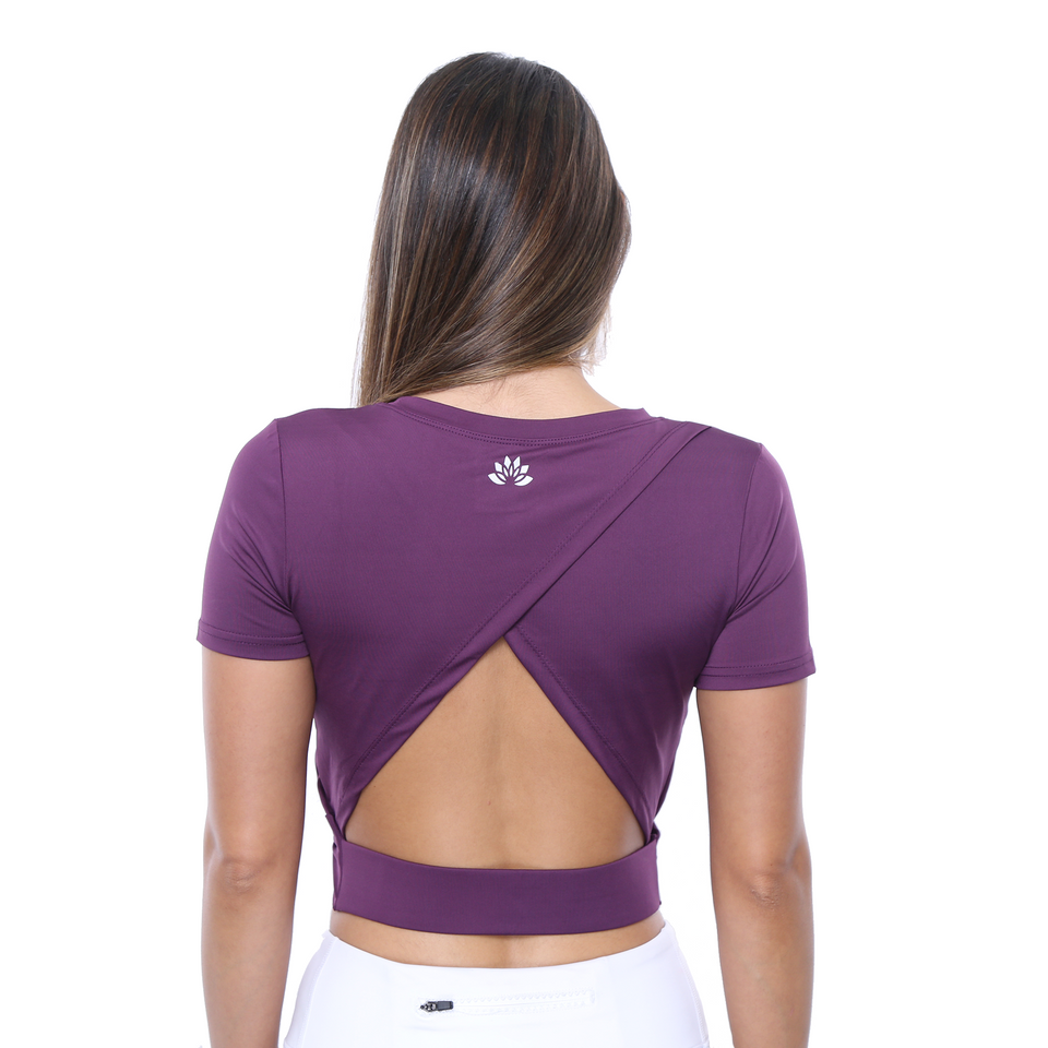 ELOISE- Gym Top (Violet) Limited Edition! - FEM Athletica