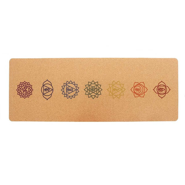 Non-slip Natural Eco-Friendly Cork Yoga Mat - FEM Athletica