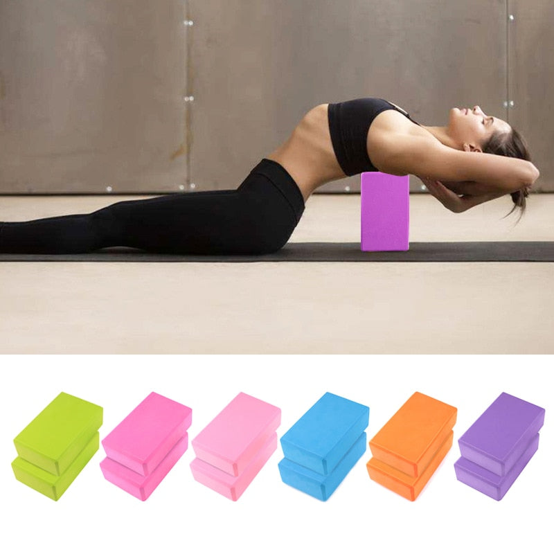 Yoga Brick Colorful Foam Block Training Workout Equipment - FEM Athletica