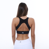 SHARYLL-V-Neckline Sports Bra (Black) - FEM Athletica