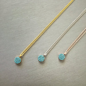 Mini Turquoise Disc Necklace