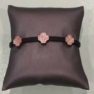 Leather Clover Bracelet