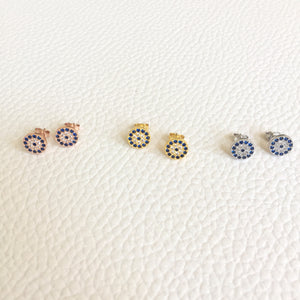 Small Evil Eye Stud Earrings