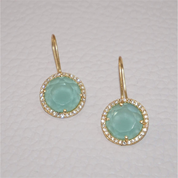 Mint Green Gemstone Earrings