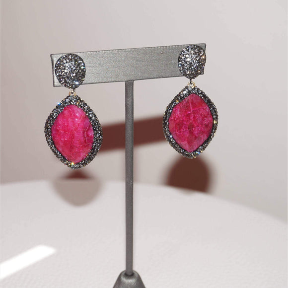 Crystal Gemstone Earrings