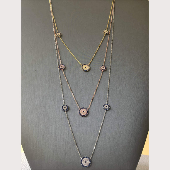 Trois Elegant Evil Eye Necklace