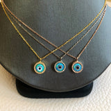 Mother Pearl Evil Eye Necklace