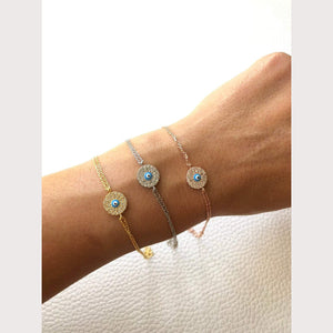 Mini Evil Eye Disc Bracelet