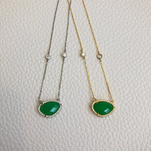 Small Emerald Gemstone Necklace