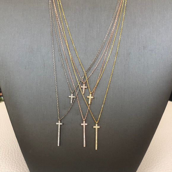 Double Cross Necklace