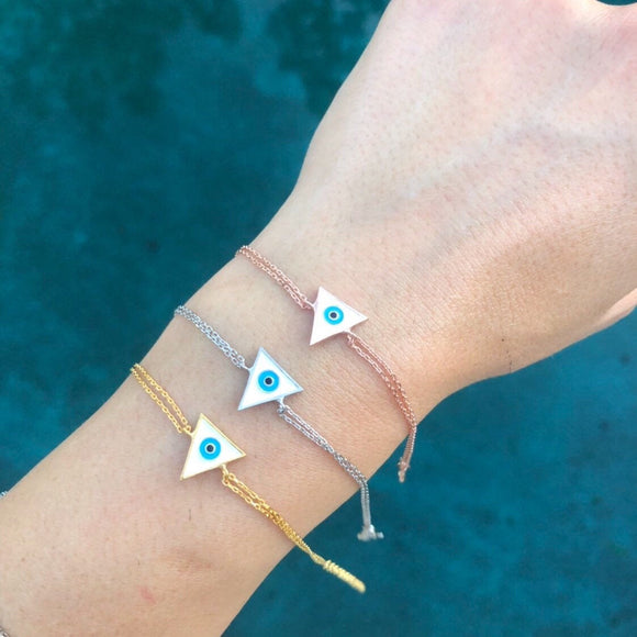 Triangle Enamel Eye Bracelet