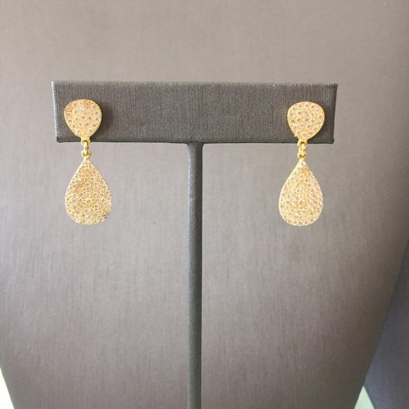 Teardrop Disc Earrings