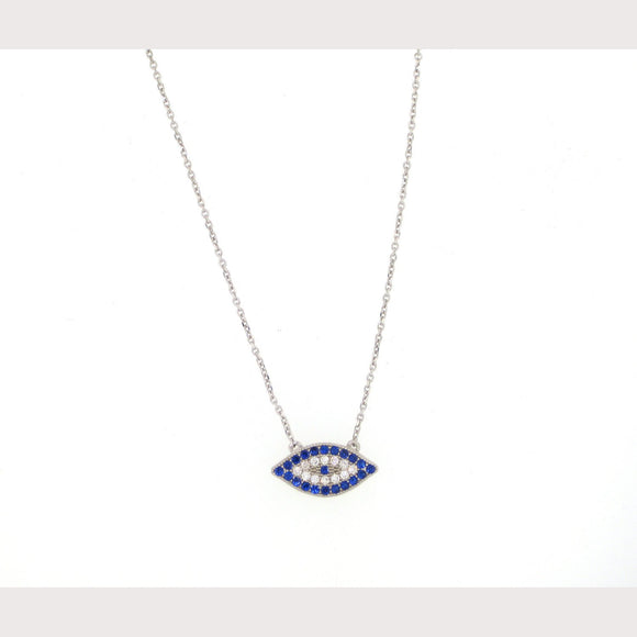 Unique Pave Evil Eye Necklace