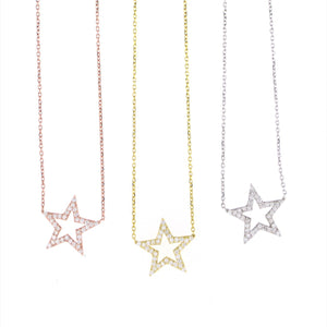SALE--Pave Star Necklace