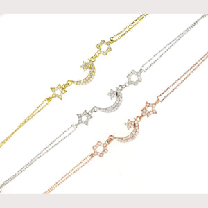 Moon & Stars Bracelet-Yellow Gold