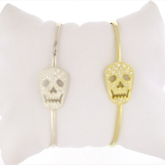 SALE---Gold Skull Bangle