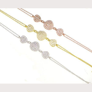 Triple Disc Chain Bracelet-Yellow Gold