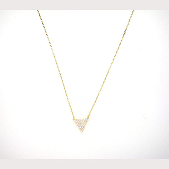 Triangle Arrow Necklace-Yellow Gold