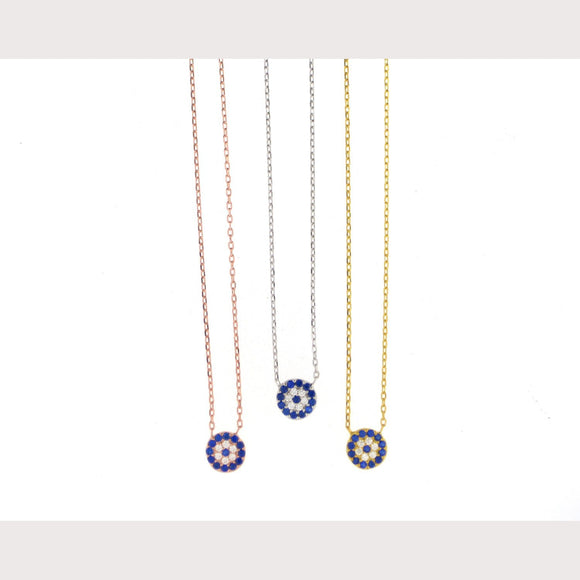 Mini Elegant Evil Eye Necklace