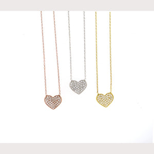 Small Pave Heart Necklace