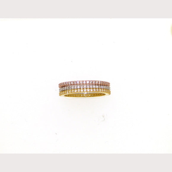 Eternity TriColor Stackable Rings