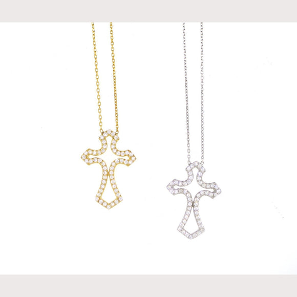 Antique Pave Cross