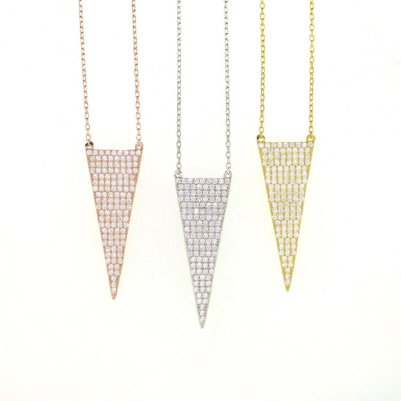 Drop Arrow Necklace-Gold