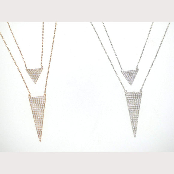 Layered Triangle Arrow Necklace