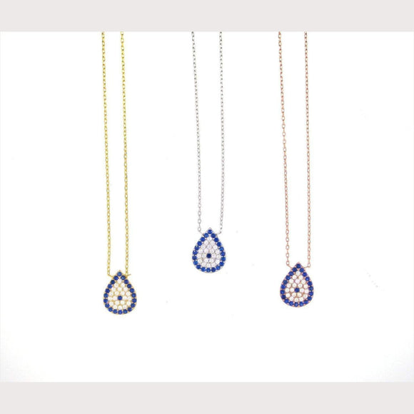 Pear Shaped Evil Eye Necklace