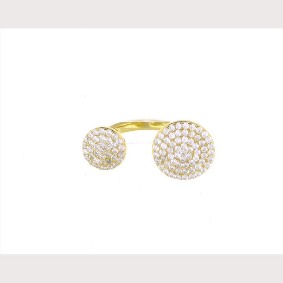 Double Disc Ring-Yellow Gold