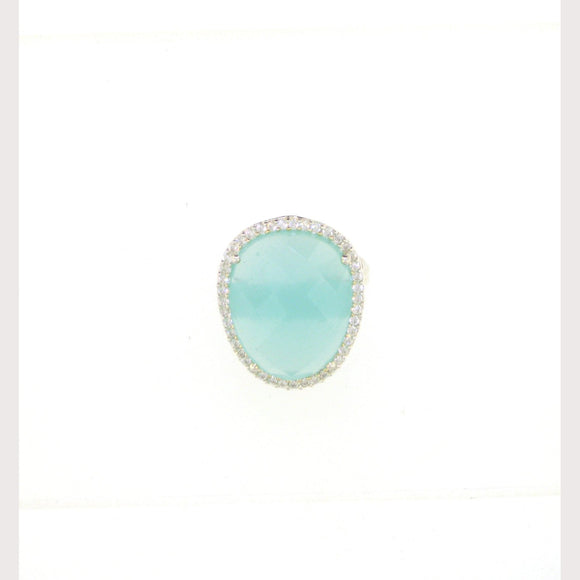 Aqua Gemstone Ring